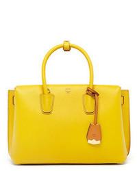 MCM Milla Medium Leather Tote Bag