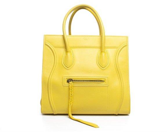 56df2f9f2b Celine Pre Owned Yellow Calfskin Phantom Luggage Tote Bag