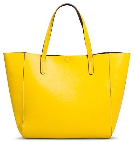 ... Yellow Leather Tote Bags Merona Reversible Tote Faux Leather Handbag ...