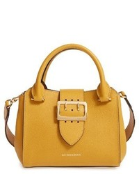 Burberry Small Calfskin Leather Tote Yellow