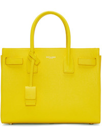 b4a48302e6 Women s Yellow Leather Tote Bags by Saint Laurent