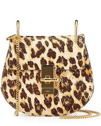Chloé Chloe Drew Mini Shoulder Bag Leopard