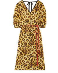 Marc Jacobs Leopard Print Taffeta Dress