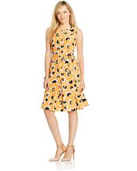 Jones New York Sleeveless Animal Print Flare Dress