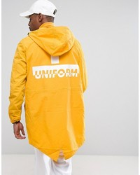 Asos Lightweight Parka Jacket With Back Print In Yellow