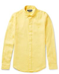 Polo Ralph Lauren Slim Fit Button Down Collar Linen Shirt
