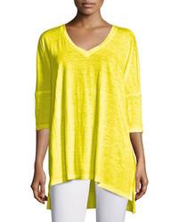 Eileen Fisher Dolman Sleeve Boxy Organic Linen Tunic