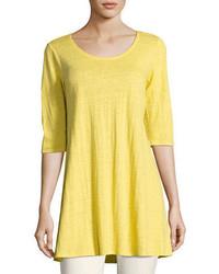Eileen Fisher Half Sleeve Linen Jersey Layering Tunic