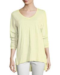 Eileen Fisher Organic Linen Jersey V Neck Tunic