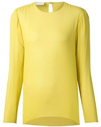 Yellow Long Sleeve Blouse