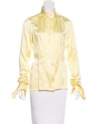 Kaufman Franco Kaufmanfranco Silk Button Up Blouse