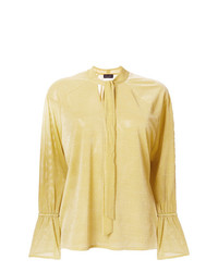 Roberto Collina Neck Tied Shift Blouse