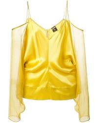 Vintage off shoulder blouse medium 215469