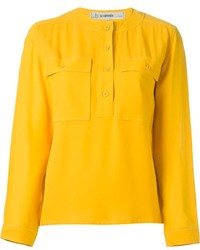 Vintage round neck blouse medium 215434