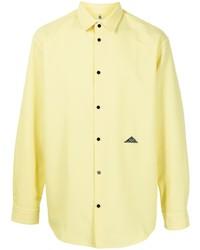 Oamc Logo Patch Button Up Shirt