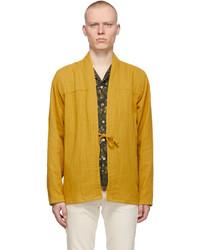 Naked & Famous Denim Yellow Double Weave Gauze Kimono Shirt