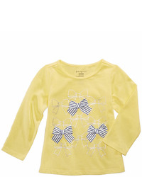 First Impressions Bows Print Cotton T Shirt Baby Girls Created For Macys