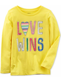 Carter's Love Wins Long Sleeve Cotton T Shirt Little Girls Big Girls