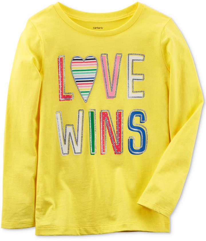 Carter's Love Wins Long Sleeve Cotton T Shirt Little Girls Big Girls