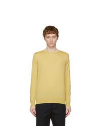 Loro Piana Yellow Wish Wool T Shirt Sweater