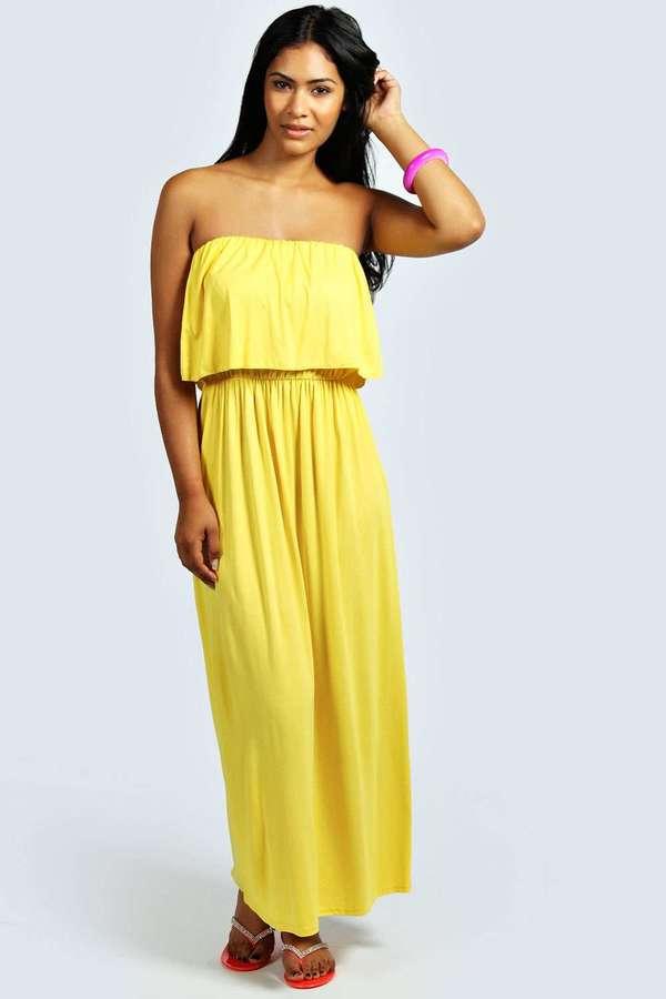 618a0ad3913 ... Boohoo Casey Bandeau Frill Top Maxi Dress ...