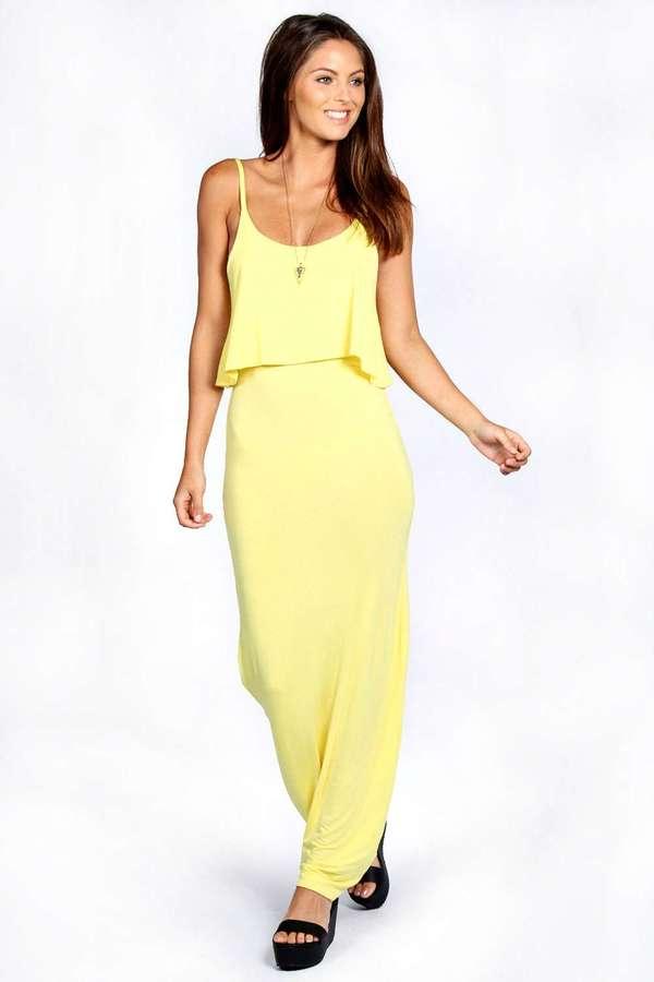 f3d2e72b6df ... Boohoo Polly Strappy Frill Top Maxi Dress ...
