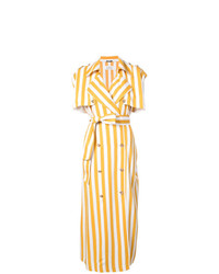 Maison Margiela Double Breasted Stripe Dress