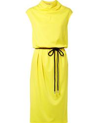 Marc Jacobs Draped Jersey Midi Dress