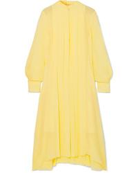 Chloé Pleated Silk Chiffon Dress