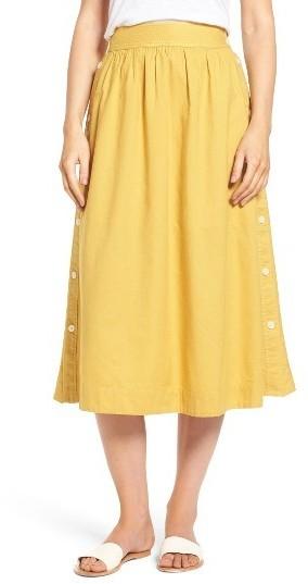 374ad9d4f Madewell Side Button Midi Skirt, $98 | Nordstrom | Lookastic.com
