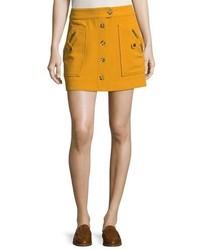 Monroe a line button front mini skirt medium 4985990