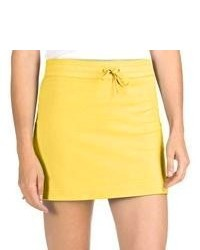 Specially made French Terry Athletic Skirt Stretch Cotton Yellow