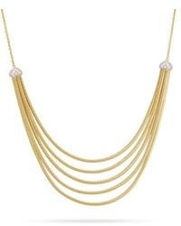 Marco Bicego Cairo 5 Strand Bib Necklace With Diamonds