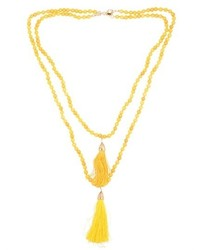 Etna Beaded Necklace With Tassels