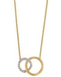 Marco Bicego Jaipur 18k Pav Diamond Link Necklace
