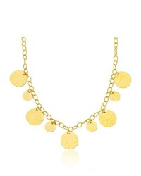 MySolitaire Fancy Disc Necklace In 14k Yellow Gold