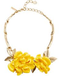 Oscar de la Renta Oversized Resin Flower Necklace