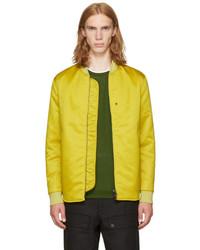 Acne Studios Yellow Mylon Matt Bomber Jacket
