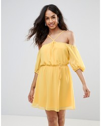 BCBG MaxAzria Bcbg Off Shoulder Halterneck Dress