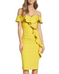 Jay Godfrey Off The Shoulder Midi Dress