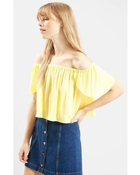 f9083fe5f88b00 Women s Yellow Off Shoulder Tops by Topshop