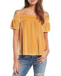 Off the shoulder velvet top medium 4951371