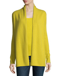 Cashmere collection classic draped cashmere cardigan medium 4156627