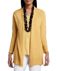 Eileen Fisher Open Slub Cardigan Plus Size