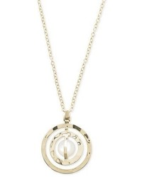 Ippolita 18k Sensotm Double Open Disc Necklace In Mother Of Pearl