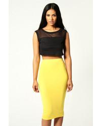 Boohoo Alexis Midi Jersey Tube Skirt