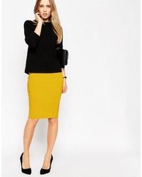 Asos Collection High Waisted Pencil Skirt