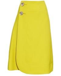 Marni High Waisted Wool Midi Skirt