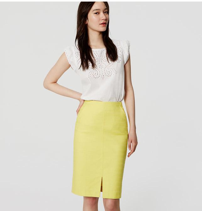 f0e2667e94 ... Yellow Pencil Skirts LOFT Slit Pencil Skirt ...