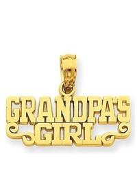 iBraggiotti Grandpa Girl Pendant In 14k Yellow Gold